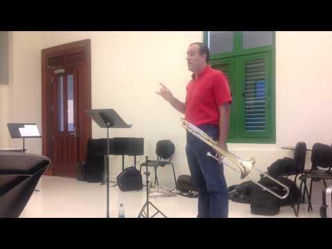Seminario Internacional Trombón; Trujillo, Perú. Luis Fred Trombone, conferenciante