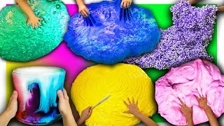 10 GIANT DIY SLIMES in 12 minutes | Giant Fluffy, Floam, Butter, No Glue slime how to