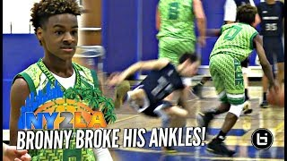 LeBron James Jr BREAKS Defender's Ankles! Rayvon Griffith Hits The Mean Dunk at NY2LA Debut!