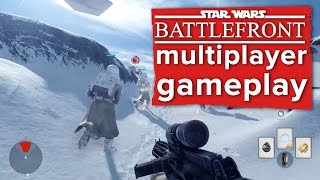 "Star Wars Battlefront multiplayer gameplay  - E3 2015 EA Conference - ""Walker Assault"" on Hoth"