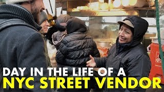 Day in the Life of an NYC STREET FOOD VENDOR! Making Mexican Tamales