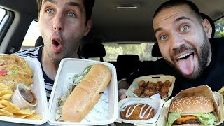 FIRST TIME TRYING VEGAN WITH ALL FAKE MEAT MUKBANG with JOSH PECK!!