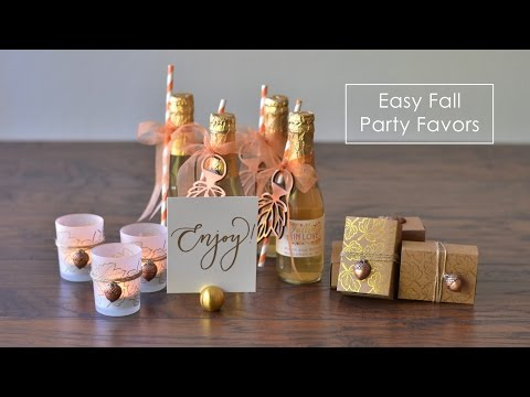 DIY Easy Fall Party Favors