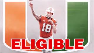 Tate Martell Ruled ELIGIBLE for 2019 - Miami Hurricanes Football