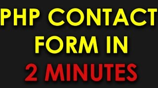 PHP & HTML Contact Form in 2 Minutes with Validation & Submit