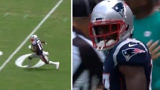 Antonio Brown FIRST CATCH From Tom Brady, DOMINATES On First Patriots Drive #NFL #Patriots