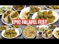 Epic Falafel Fest at Home! Baked Falafel, Hummus & Pita Bread Making Video Recipe | Bhavnas Kitchen