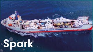 Building A Submersible Ship To Transport 20 Mega Yachts   Huge Moves   Spark