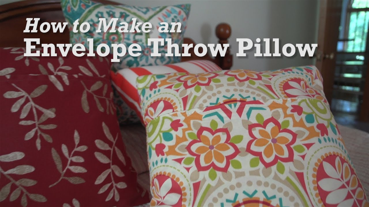 How To Make An Envelope Throw Pillow