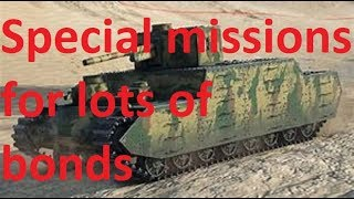 world of tanks, Special missions for lots of bonds going on rite now.