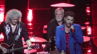 Queen+Adam Lambert 7/23/17: 12 - Somebody to Love (broken guitar string)- Uncasville, CT