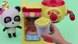 과일즙 만들기 딸기 수박 포도 과일파티 냉장고 토이버스 장난감  Kids Toys   Baby Doll Play   ToyBus