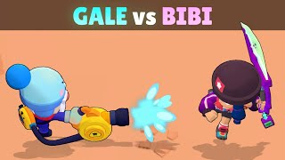 GALE vs BIBI | 23 Tests | Best Knockback Brawler in Brawl Stars!