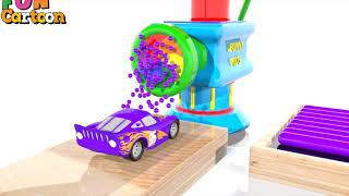Learn Colors with Lightning Mcqueen Surprise Soccer Balls Magic Liquids for Children Toddlers