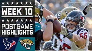 Texans vs. Jaguars | NFL Week 10 Game Highlights