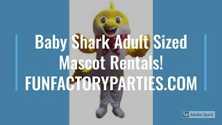 Baby Shark Birthday Character Rentals! Mascot Entertainers for Hire  https://funfactoryparties.com/