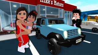 BUYING A FAMILY CAR | Bloxburg Family | Roblox Roleplay