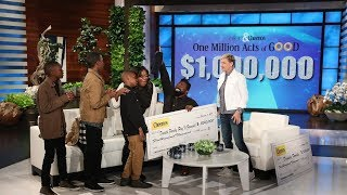 Extended Cut - Ellen Gives a Deserving Family the Single Biggest Gift Ever!