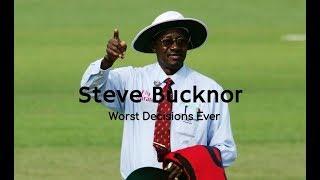 Steve Bucknor's Worst Umpiring Decisions Ever - Highlight Compilation - Cricket Umpiring