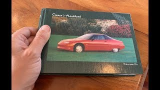 Here's a Trip Through the GM EV1 Owner's Manual