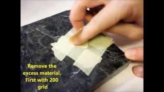 Repair a chip in granite counter top - fast and easy diy repair/professional results