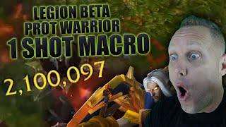 Swifty's Prot Warrior 1 Shot Macro in WoW Legion Beta