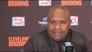 Hue Jackson after Browns and Steelers tie in OT