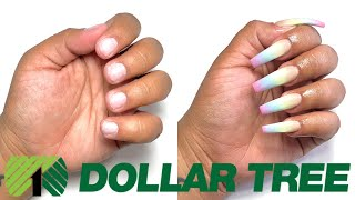 DOLLAR TREE ACRYLIC NAILS AT HOME ALL PRODUCTS ONLY $1 - *NOT CLICKBAIT*