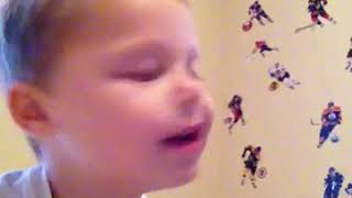 Me as a little kid singing