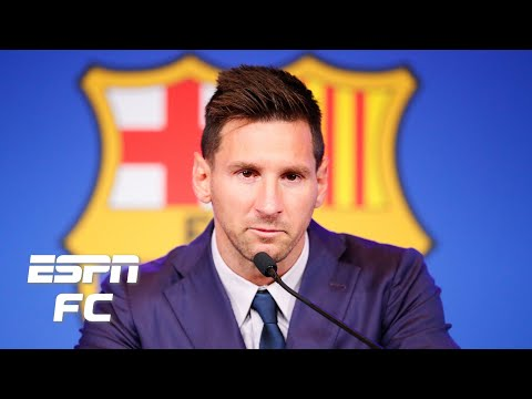 Lionel Messi CONFIRMS a transfer to PSG is a 'possibility' in Barcelona press conference | ESPN FC