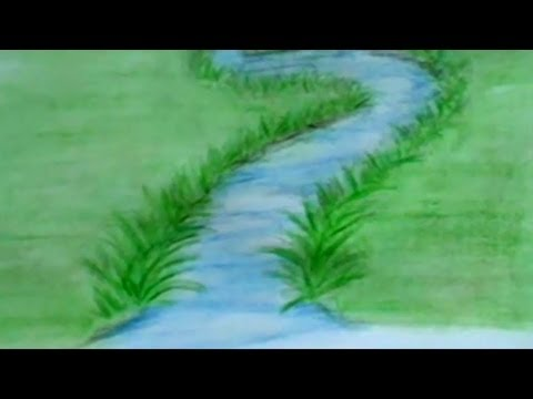How To Draw A River With Colored Pencils Lesson 3 Youtube