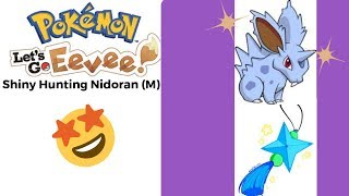 Pokemon Let's Go Eevee -Shiny Hunting Nidoran (Male) Cont. YESS!