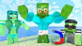 Minecraft Life of Zomma & ZomBo   Muscular vs Thief   Minecraft Animation