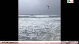 Hurricane FLORENCE hit North Carolina Coast atrract Kiteboard DAREDEVIL Badai Florence 2018