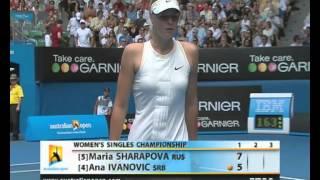 Ivanovic v Sharapova: 2008 Australian Open Women's Final Highlights