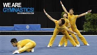 2012 Acrobatic Worlds - LAKE BUENA VISTA, USA - Men's Group Final - We are Gymnastics!
