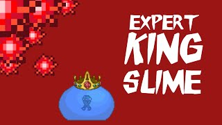 How To Cheese Expert Terraria Bosses Ep 1: KING SLIME!