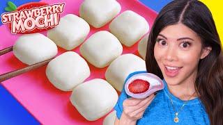 I tried Squishy Strawberry Milk Mochi