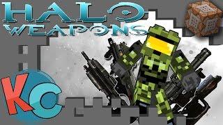 Minecraft: HALO WEAPONS W/ COMMAND BLOCKS!