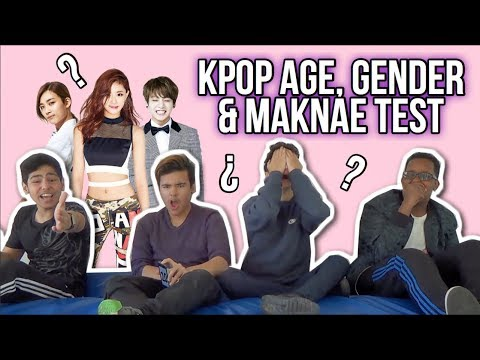 K-POP AGE & GENDER TEST - W/BRITISH BOYS
