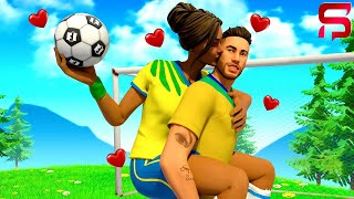 NEYMAR FALLS IN LOVE with his TEAM MATE.... ( Fortnite Roleplay)