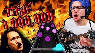 Through the Fire and Flames! 1 MILLION points! [6 fret guitar hero]