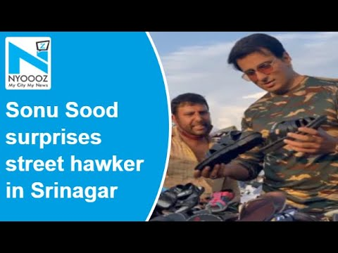 Kashmir: Sonu Sood surprises street hawker by turning up at his stall, asks for discount