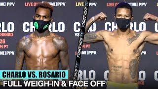 JERMELL CHARLO & JEISON ROSARIO WEIGH IN & GO FACE TO FACE IN INTENSE STARE DOWN! (FULL WEIGH IN)