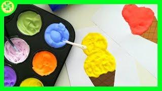 Filmik prezentujący sposób wykonania puchnącej farby z pianki do golenia :)Potrzebne materiały:- porc