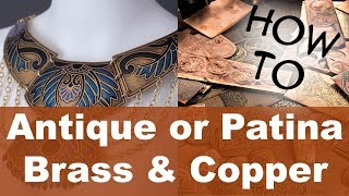 Adding a Patina or Antique finish to Brass and Copper Jewelry - Oxidizing Metal - Liver of Sulfur