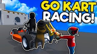 We Attempted to Race Go-Karts but it Was a Disaster! - Human Fall Flat Multiplayer