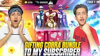 Gifting Cobra Bundle To Subscriber 😍 Wasted 10,000 Diamonds Luckiest Subscriber - Garena Free Fire