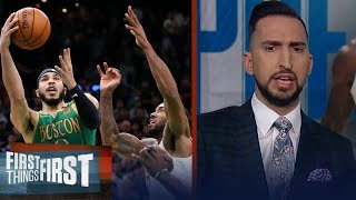 Jayson Tatum shut Kawhi down in Clippers loss to Celtics — Nick Wright | NBA | FIRST THINGS FIRST