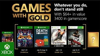 Games with Gold reveals free games for July 2018